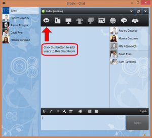 Add people to a Chat Room button