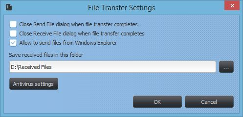 File Transfer Settings