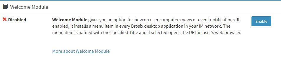 Enable Brosix Welcome Plugin