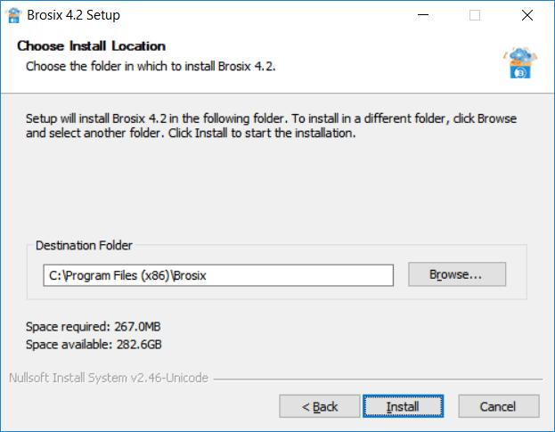 Choose the desired installation folder