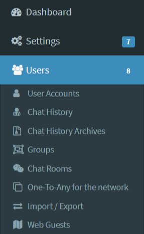 Users section
