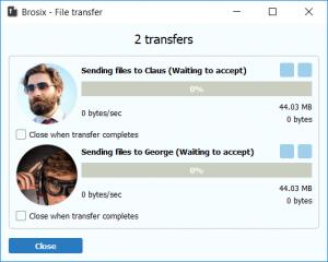 Brosix FIle transfer