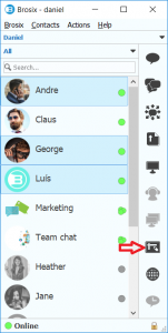 Whiteboard plugin in your contact list